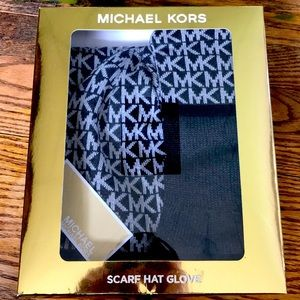 Michael Kors scarf hat glove in the box NWT.
